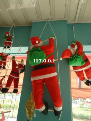 climbing_ladder_christmas_Santa_Claus