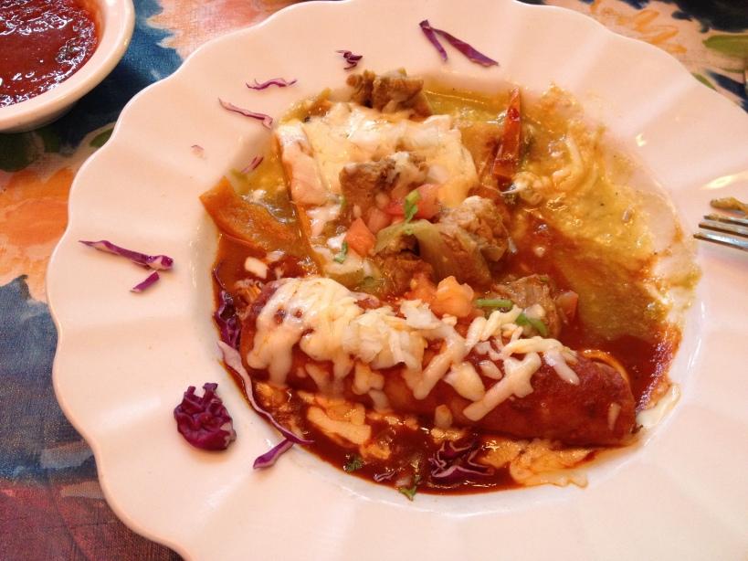A trio of homemade enchiladas