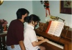 Playing the piano. I'm about 12.