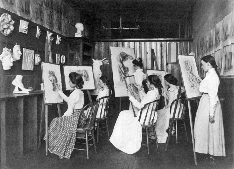 Art Class Two Different Girls