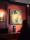 There were a number of paintings scattered through the restaurant: Samuel Jackson, Bob Marley, and these guys