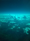 View over Colorado through the Dreamliner polarized windows