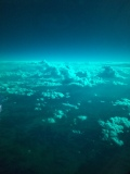 View over Colorado through the Dreamliner polarized windows