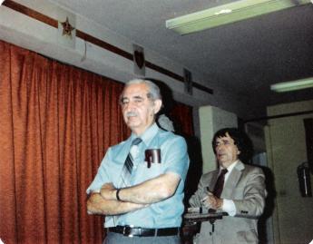 Reuben Kramer sculpting my father