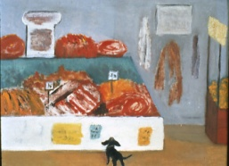 """Lexington Market,"" painting by Ruth Bear Levy, photo courtesy of The Jewish Museum of Maryland. 1999.012.013"