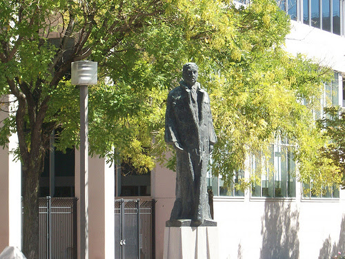 Statue of Thurgood Marshall by Reuben Kramer, courtesy of M. Dean