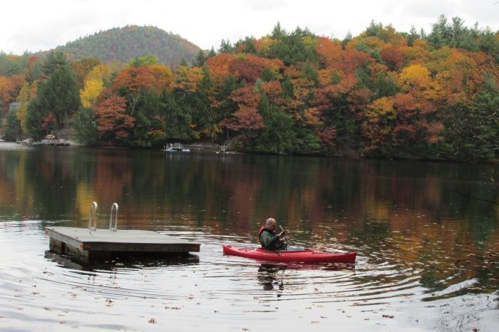Mark towing in the swim raft.