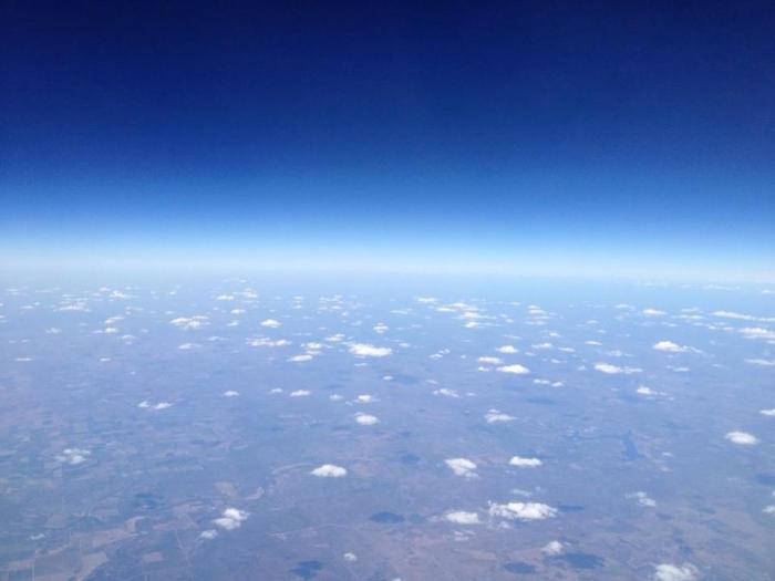 Over western US at around 45,000 feet