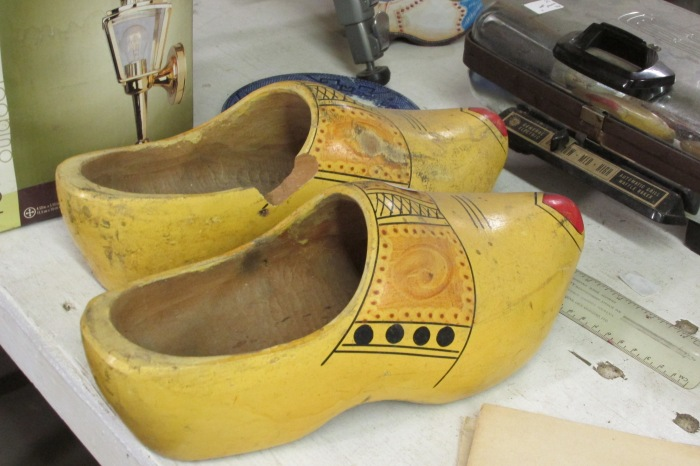 Tourist wooden shoes