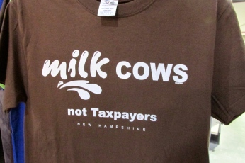 Among the selections, this shirt which shows why NH will never have a sales or income tax. We just don't do it.