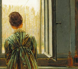 Detail from Caspar David Friedrich's Frau am Fenster